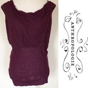 Anthropologie Silence + Noise purple top Size L
